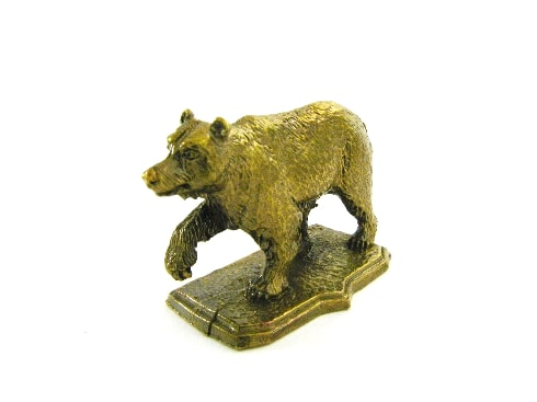 Bear on a stand
